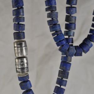 Collier aus Silber mit Lapis - Unikat