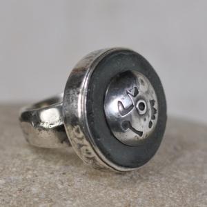 Ring aus Silber - Glas