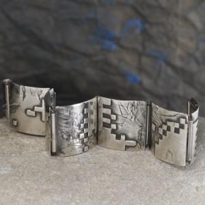 Gliederarmband aus Silber - Unikat