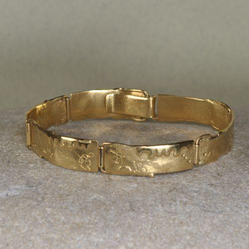 Gliederarmband aus Gold - Unikat